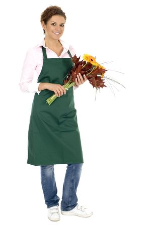 Florist holding flowers Stock Photo - 3626781