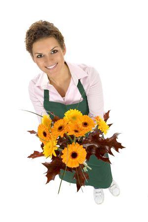 Florist holding flowers Stock Photo - 3626784