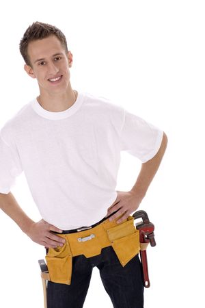 toolbelt: Man Wearing Toolbelt