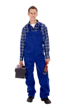 overalls: Plumber  Stock Photo