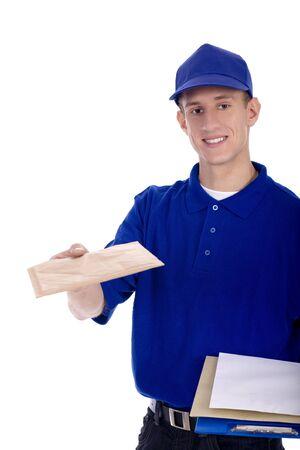 cartero: Cartero entrega de correo