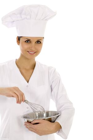 Chef with bowl and whisk photo