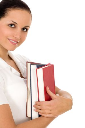 Woman holding books  photo