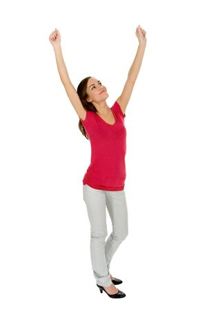 Woman with Raised Arms Stock Photo - 3887977