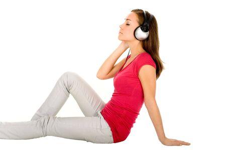 Woman Enjoying Music photo