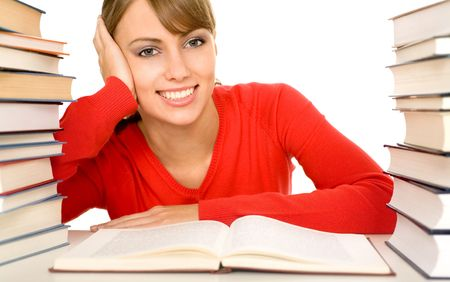 Female student with books Stock Photo - 3899876