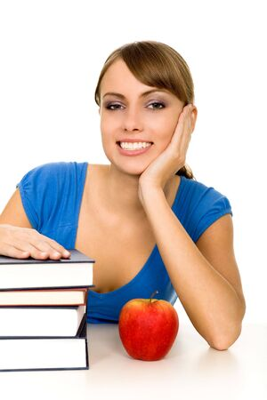 Female student with books photo