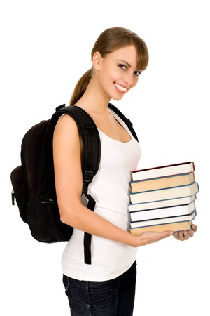 Female student with books Stock Photo - 3993724