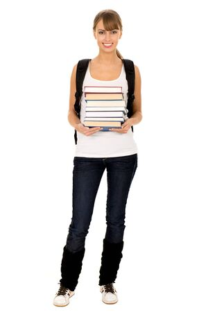 Female student with books Stock Photo - 3993719