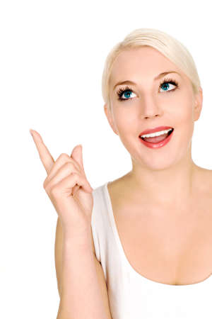 Woman pointing up Stock Photo - 4274038
