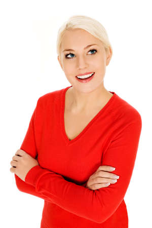 Woman with arms crossed      photo