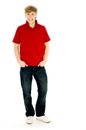 Young man standing with hands in pockets Stock Photo - 4274060