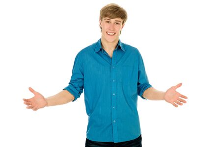 Young man standing with open arms Stock Photo - 4316363