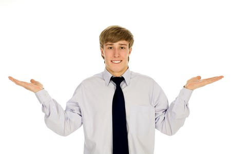 Businessman gesturing Stock Photo - 4411011
