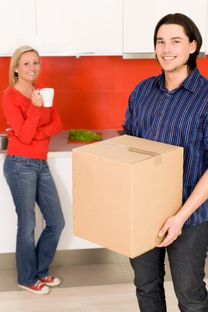 Couple Moving Home photo