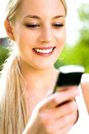 Woman Using Mobile Phone Stock Photo - 4871478