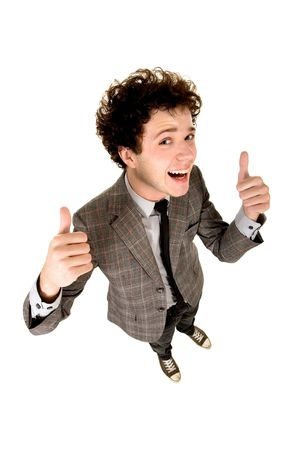 Man With Thumbs Up photo