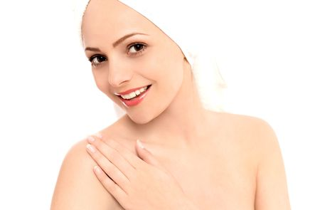 Beautiful woman wearing a towel Stock Photo - 5153125