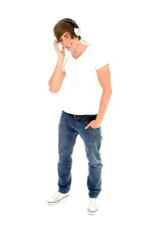 Young Man Enjoying Music Stock Photo - 5179139