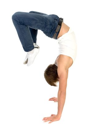 Male Breakdancer in Action Stock Photo - 5179136