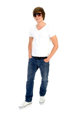cool guy: Casual cool young guy Stock Photo