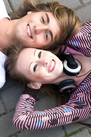 Teenage couple Stock Photo - 5589238