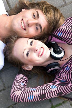Teenage couple Stock Photo - 5589238