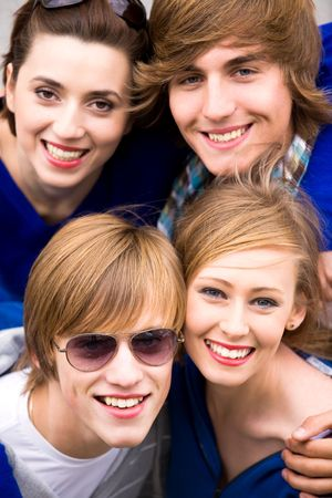 Four friends Stock Photo - 5644852