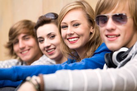 Four Young Teenagers photo