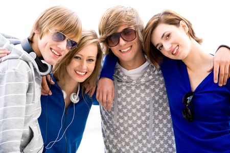 Happy young friends Stock Photo - 5644858