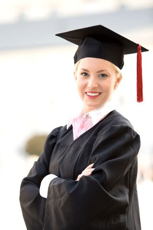Female graduate smiling  Stock Photo - 5654852