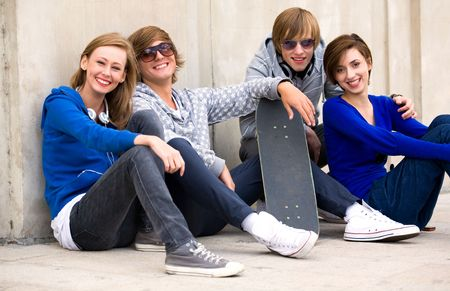 Four Young Teenagers Stock Photo - 5765519