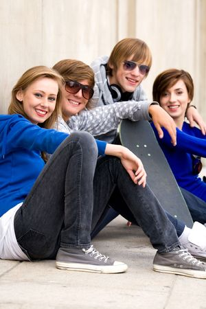 Happy young friends Stock Photo - 5765522