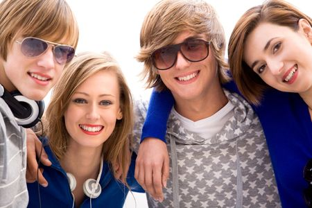 Happy young friends Stock Photo - 5765524