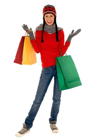 Winter shopping Stock Photo - 5846739