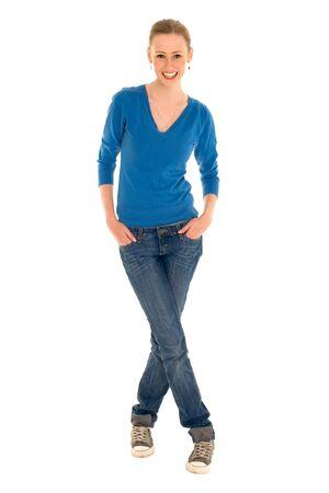 standing: Beautiful young woman