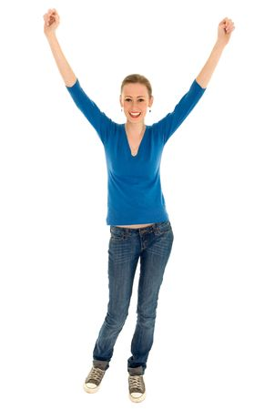 Girl with arms raised Stock Photo - 5931626