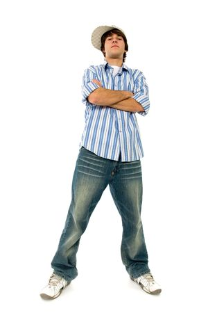 crossed arms: Confident young man Stock Photo