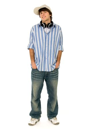 Young man with hands in pockets photo