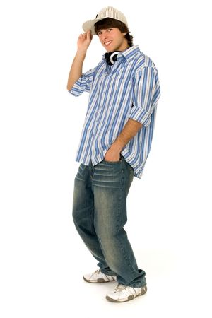 baile hip hop: Retrato de hombre joven de pie