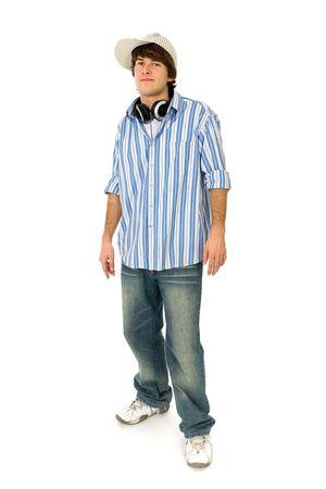 jeune mec: Guy occasionnel de jeune cool