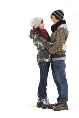 Young couple in winter clothing Stock Photo - 6263486