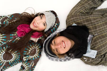 Young couple in winter clothing Stock Photo - 6263485