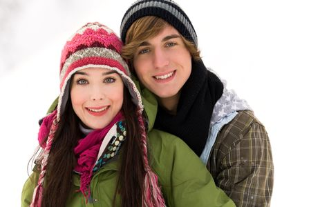 Young couple in winter clothing Stock Photo - 6280779