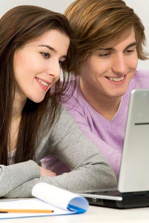 Couple studying Stock Photo - 6342129