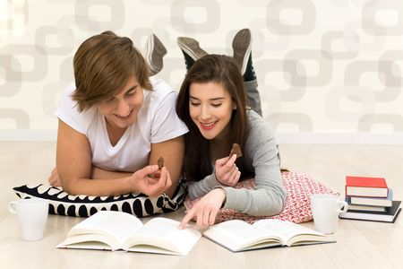 Couple with books photo