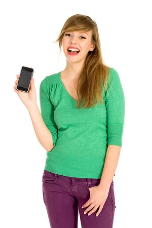 Girl with cell phone Stock Photo - 6502772
