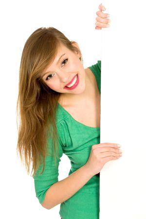 blank billboard: Frau Betrieb leer billboard