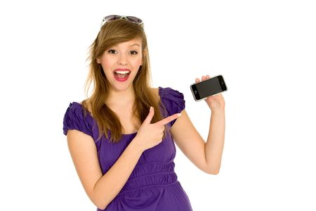 Girl with cell phone Stock Photo - 6525545