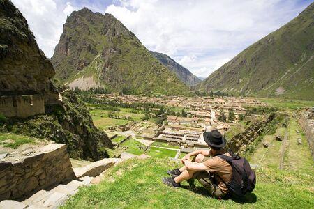 incan: Ollantaytambo, rovine Inca, Per�  Archivio Fotografico